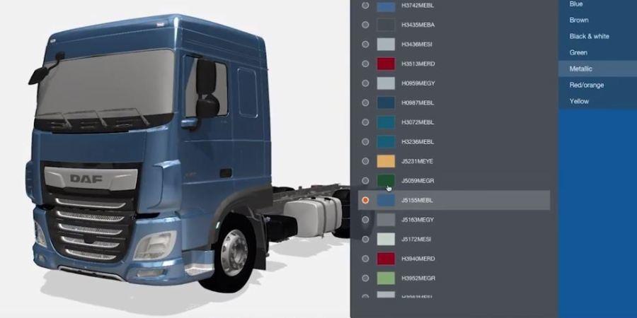 DAF Trucks, configurador 3D, diseñar, camiones, línea,