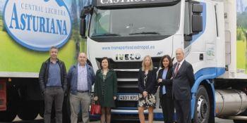 IVECO, entrega, camiones, Central Lechera Asturiana, GNL,