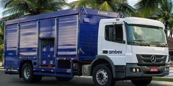 Mercedes-Benz, suministra, camiones, cervecera Ambev, Brasil,