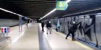 grafiteros, ataque, maquinista, metro, Madrid,