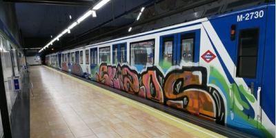 dos, policías, intoxicados, enfrentamientos, grafiteros, Madrid,