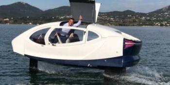 barco-taxi, futuro, navegante, francés, electrico, París,