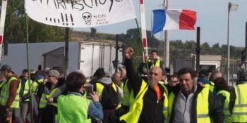 frontera, AP-7, chalecos amarillos, manifestaciones, cortes, protestas, camiones, sociedad,