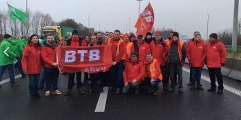 sindicato, BTB, Bélgica, piquetes, informativos, reforma, paquete de movilidad, Parlamento Europeo,