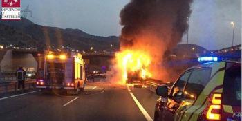 camionero, herido, colisión, camiones, A-7, cortada, tráfico,