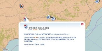 camionero herido, vuelco, vehículo, A-45, Antequera,