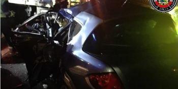 herido, grave, colisión, coche, camión, S-10, Astillero,
