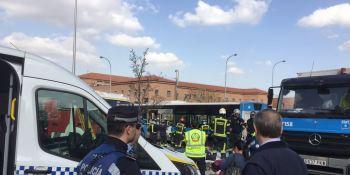 varios, heridos, leves, sufrir, síncope, conductor, emt, Madrid
