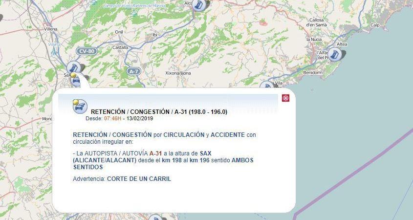 cuatro, heridos, colisión, camión, turismo, A-31,