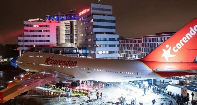 avión, hotel, Corendon, Boeing 747, transporte, especial,