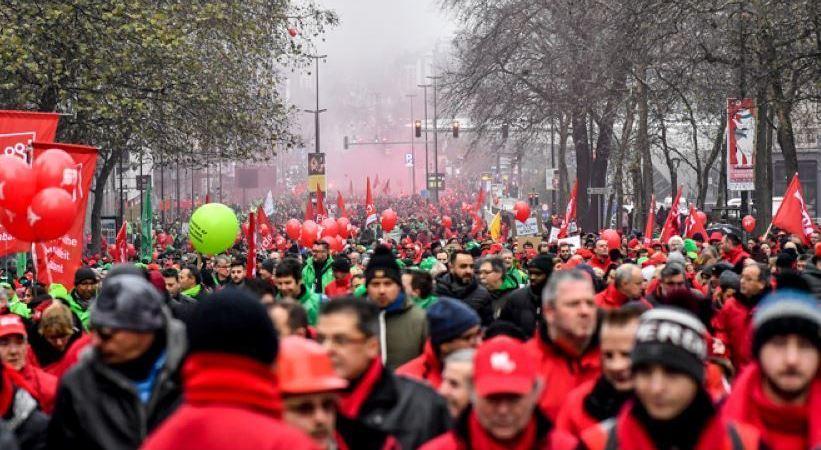 convocada, huelga, general, Bélgica, mañana