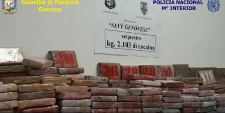 incautados, 2.750 kilos, cocaína, Italia, barcelona, policía, italiana, española, actualidad,