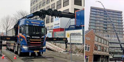 Scania, R 500, grúa, carga, metros