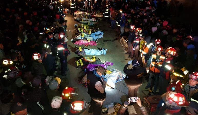 fallecidos, heridos, arrollados, trailer, Guatemala,