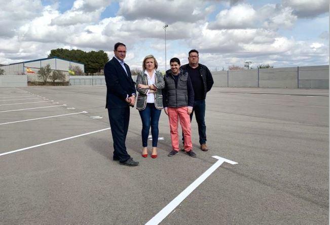 Honrubia, Cuenca, aparcamiento, capacidad, camiones,