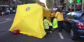 herida, grave, joven, atropellada, bus EMT, Madrid,