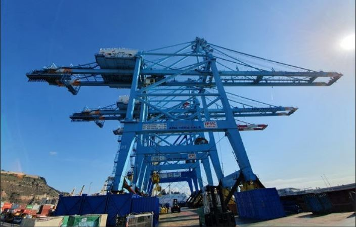 APM Terminals, Barcelona, recibe, grúas, STS, Super, Post, Panamax,