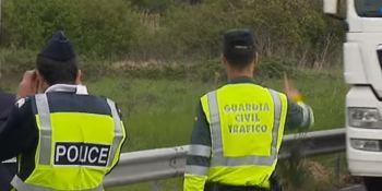 Guardia Civil, policía, francesa, colabora, control, carreteras, vídeo,