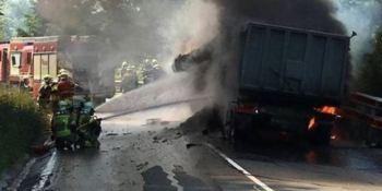 camionero, fallecido, choque, dos camiones, Puerto de Barazar,