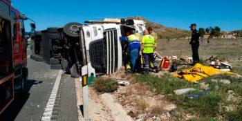 camionero, herido, vuelco, camión, N-344, Yecla, sucesos, sociedad,