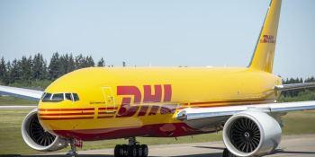 empresas, logística y almacenaje, DHL Express, avión, Boeing 777,