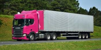 Scania, rosa, R-450 6x2- Highline, curiosidades,
