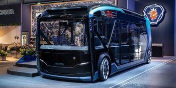 nuevo, concepto, transporte, urbano, Scania, fotos, vídeo,