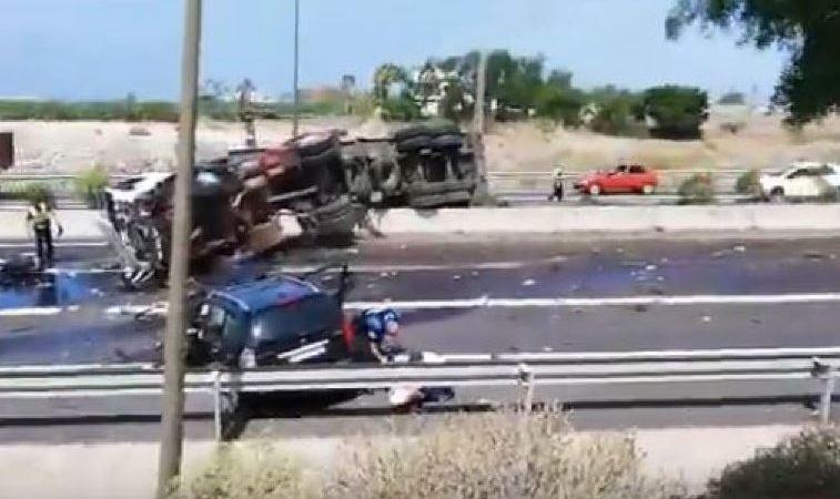 fallecida, heridos, graves, vuelco, camión, Tenerife,