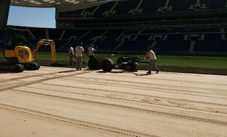 camiones, Primafrio, transportan, césped, FC Porto,