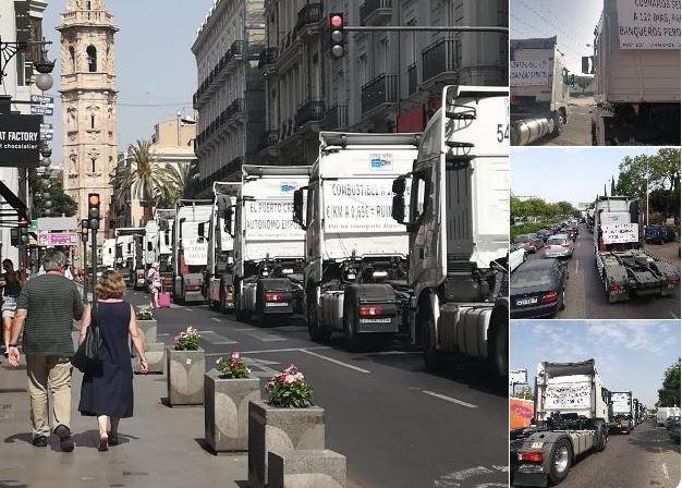 Valencia, San Cristobal, camiones, transportistas, celebración,