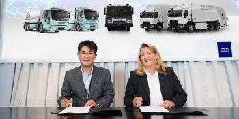 Samsung SDI , desarrollará, baterías, específicas, camiones, grupo Volvo,