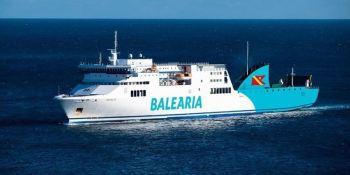 ferri, Balearia, colisiona, portacontenedores, agua, marroquíes,