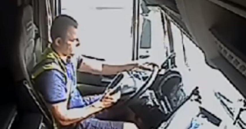 entra, prisión, camionero, acusado, conducción, temeraria, vídeo,