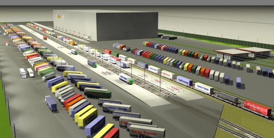 innovadora, terminal, transporte, combinado, Calais, fotos, vídeo,