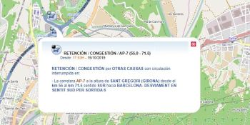 desalojados, manifestantes, cortado, AP-7, Girona,