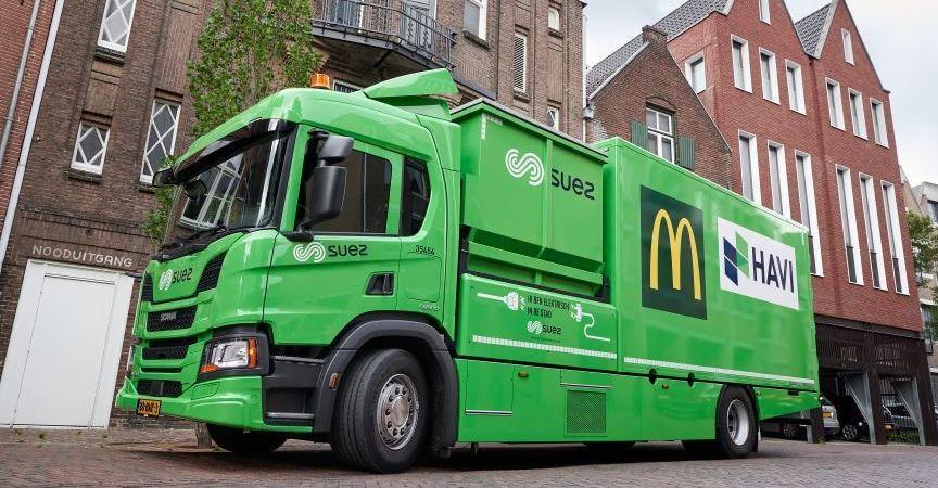 asociaciones, camiones, híbridos, nuevo, estándar, logística,