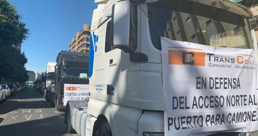 200 profesionales, Transcont, camiones, centro, Valencia,