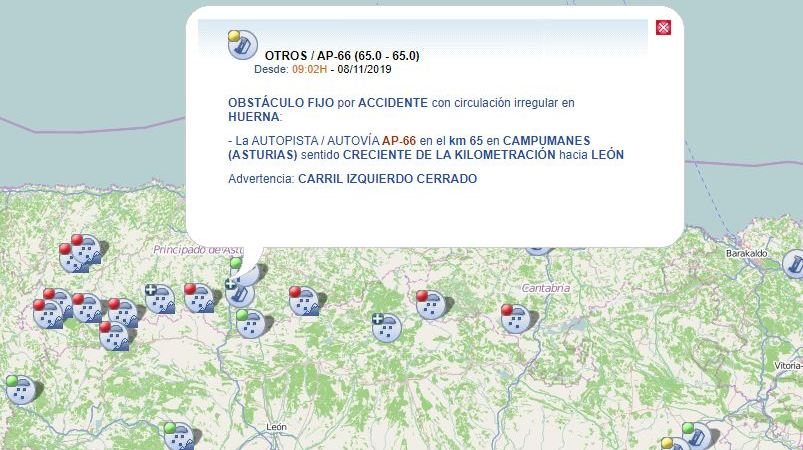 fallece, camionero, accidente, AP-66,