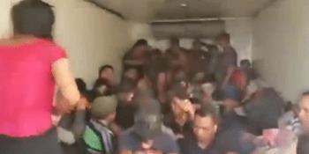 localizados, migrantes, interior, camión , México,