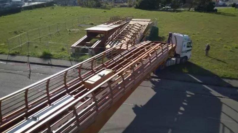 pasarela, más grande, Europa, transporte, camión, Málaga,