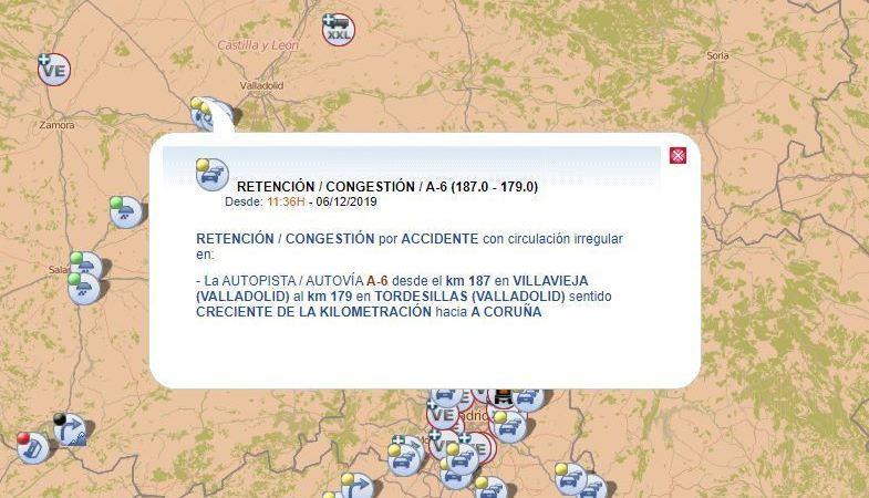 importantes, retenciones, A-6, Ávila, Valladolid,