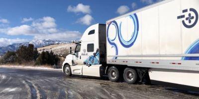 primer, camión, autónomo, atraviesa, EE.UU, mercancía, perecedera, vídeo,