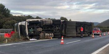 herida, camionera, colisión, AP-15, Unzué,