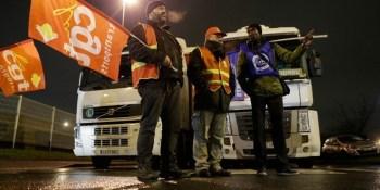 camioneros, sindicatos, huelga, Francia, diciembre,