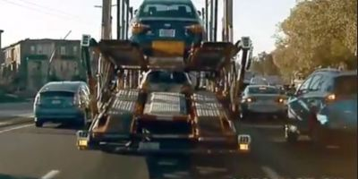 coche, Tesla, colisión, camión, conductor,