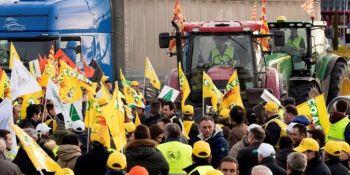 protestas, agricultores, cortes, carreteras,