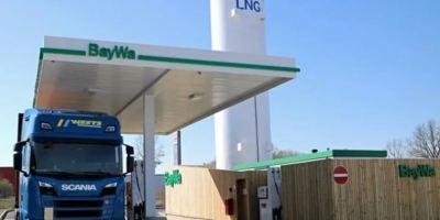 abre, primera, estación, GNL, camiones, Wolfsburg,