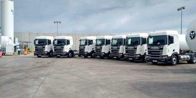 Grupo HAM, incorpora, 11 tractoras, Scania R 410, GNL