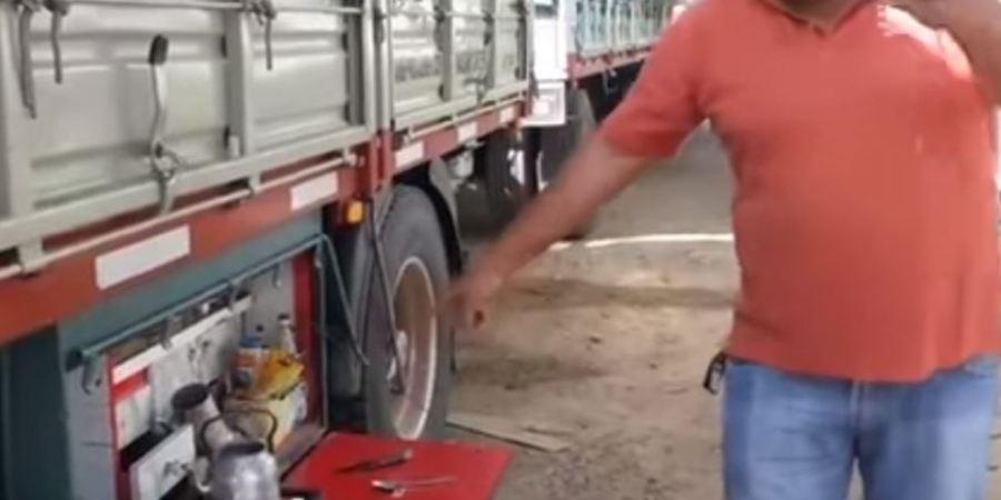 vida diaria, de un camionero, argentino, vídeo,