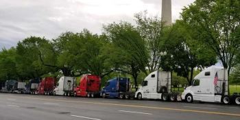 protesta, Mayday, camioneros, Estados Unidos, vídeo,